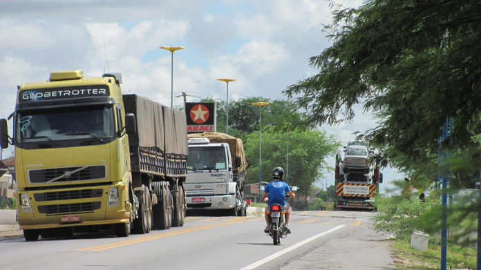 Aplicativo InfraBR Tráfego de caminhões