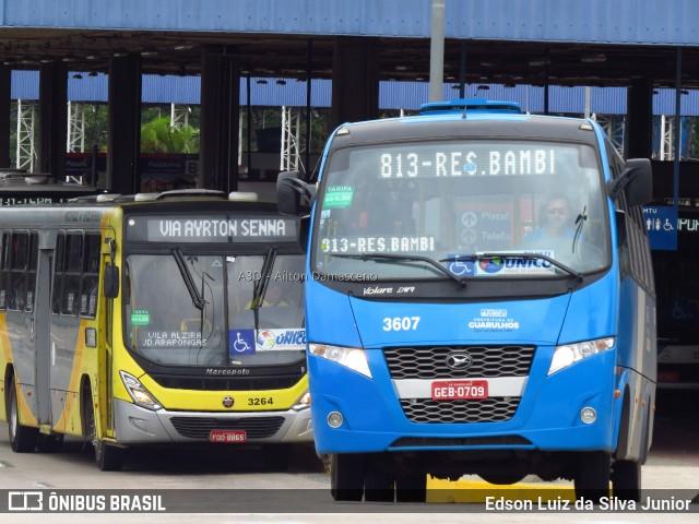 Ônibus rodando em Guarulhos