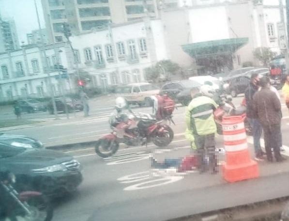 Acidente na Avenida dos Bandeirantes
