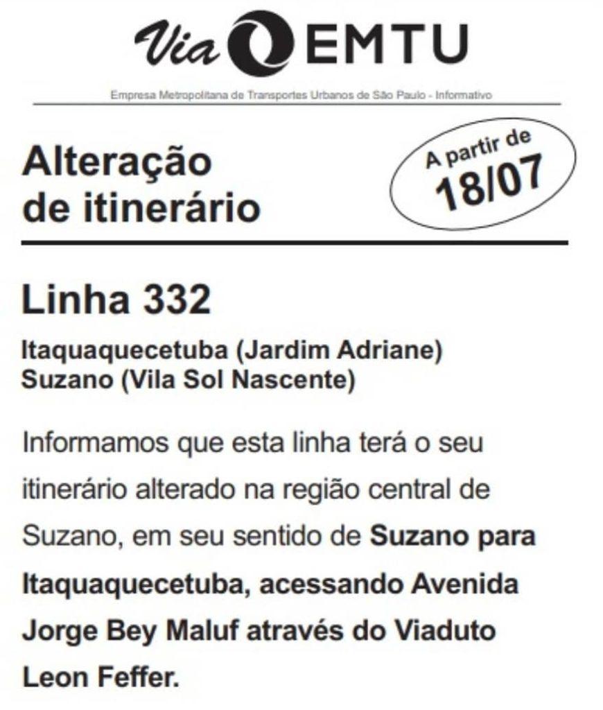 Unileste Linha 332