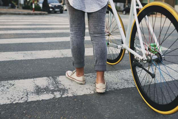 Bicicleta Faixa de Pedestre