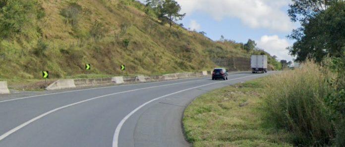 Trecho da rodovia Régis Bittencourt, em Barra do Turvo
