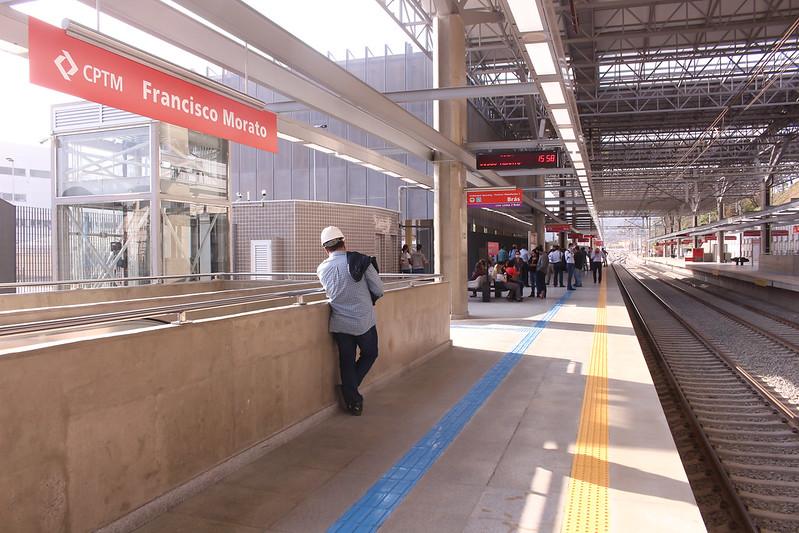 Plataforma da nova estação