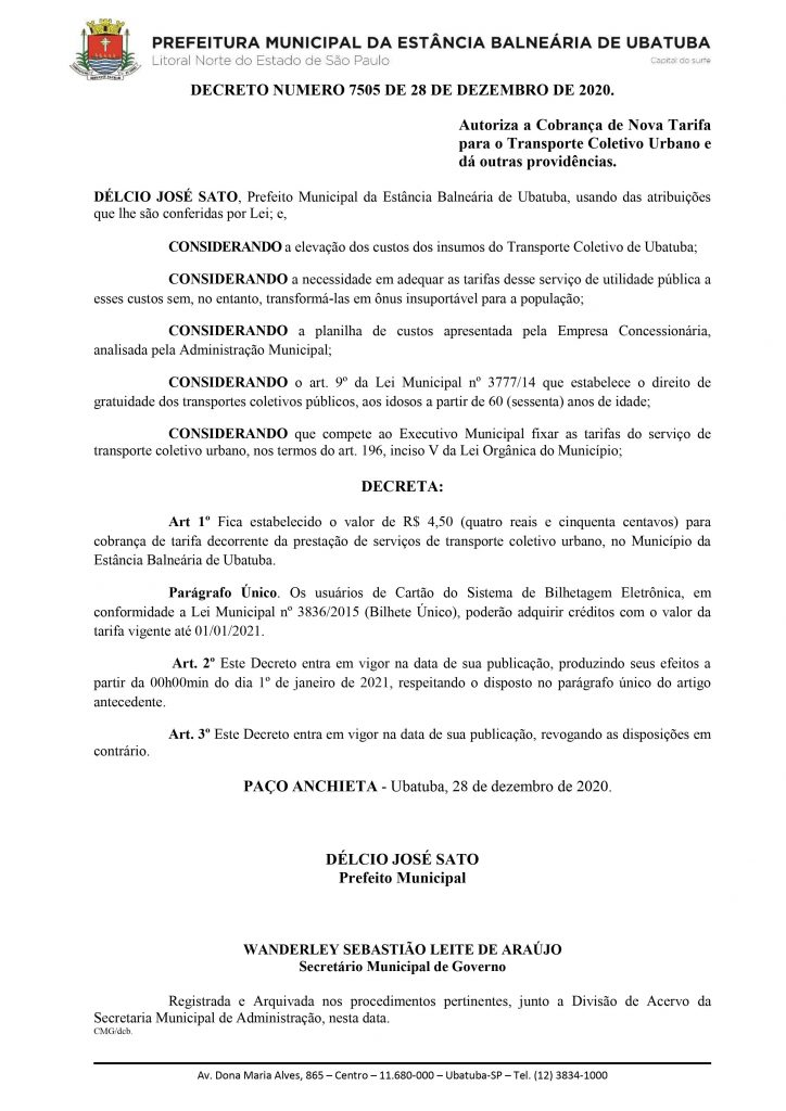 Decreto Ubatuba