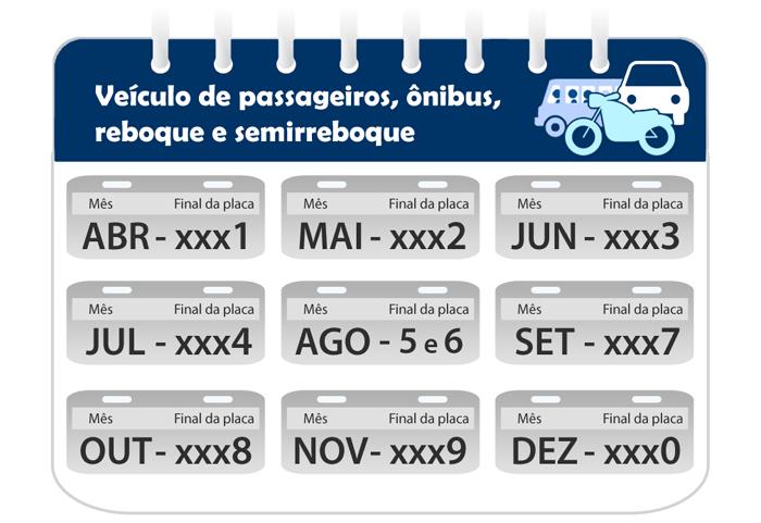 Calendário Veículos