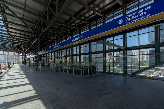 Obras da estação Morumbi