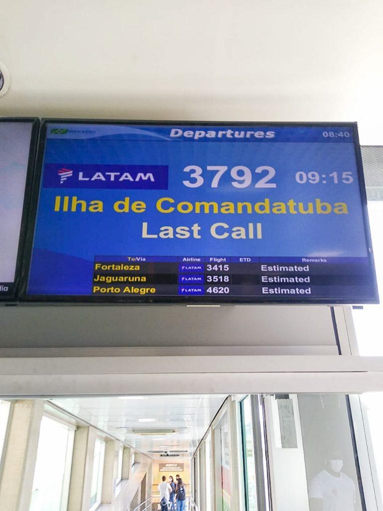 Chamada em Congonhas para embarque