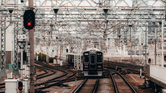 Trilhos na Ferrovia